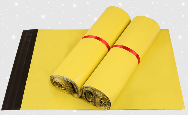 30*42cm 50Pcs/ Lot Yellow Poly Courier Bag 11.81x16.54 Sealing Glue Mailing Packing Self-Adhesive For Express Envelope Bag