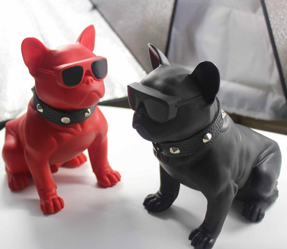 Animal Bulldog Bluetooth Speaker Mini Portable Wireless Speaker Soundbar Bass Boombox Sound Box TF Card Toy Loudspeakers