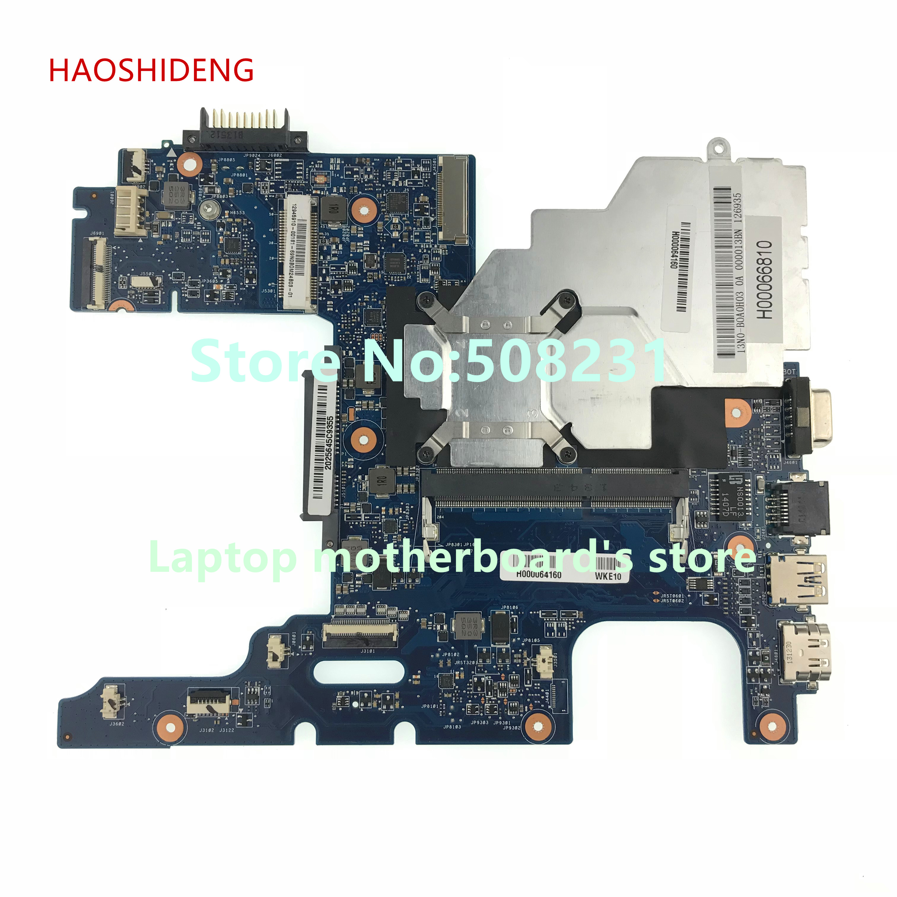 HAOSHIDENG H000064160 mainboard For toshiba satellite NB15 NB15T series laptop motherboard fully Tested nokotion h000064160 main board for toshiba satellite nb15 nb15t ma10 laptop motherboard with n2810 cpu onboard