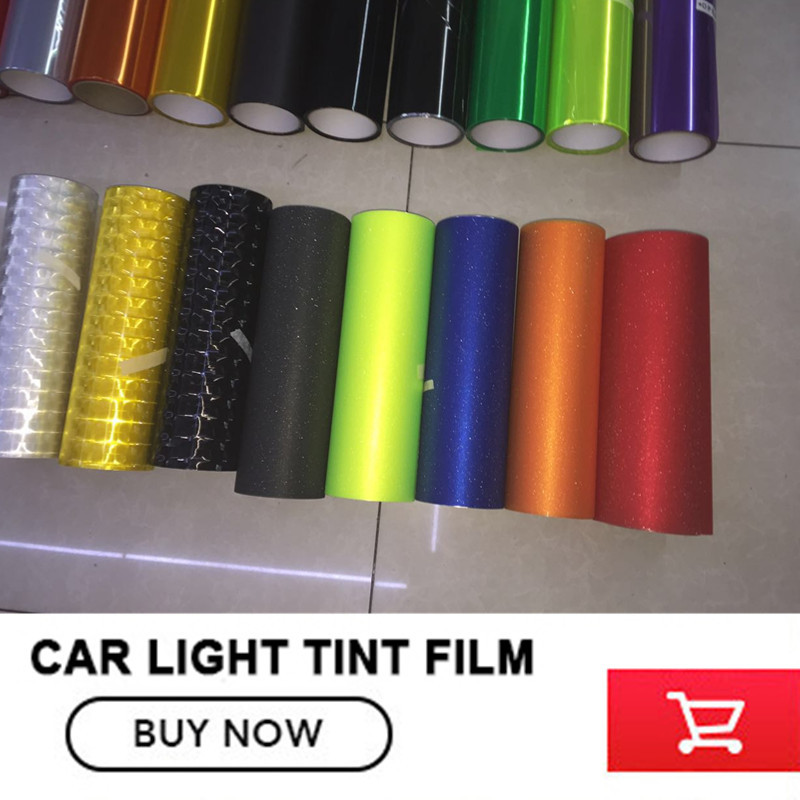 Car Styling Newest 30CMX9M Auto Car Light Headlight Taillight Tint styling waterproof Vinyl Film Sticker
