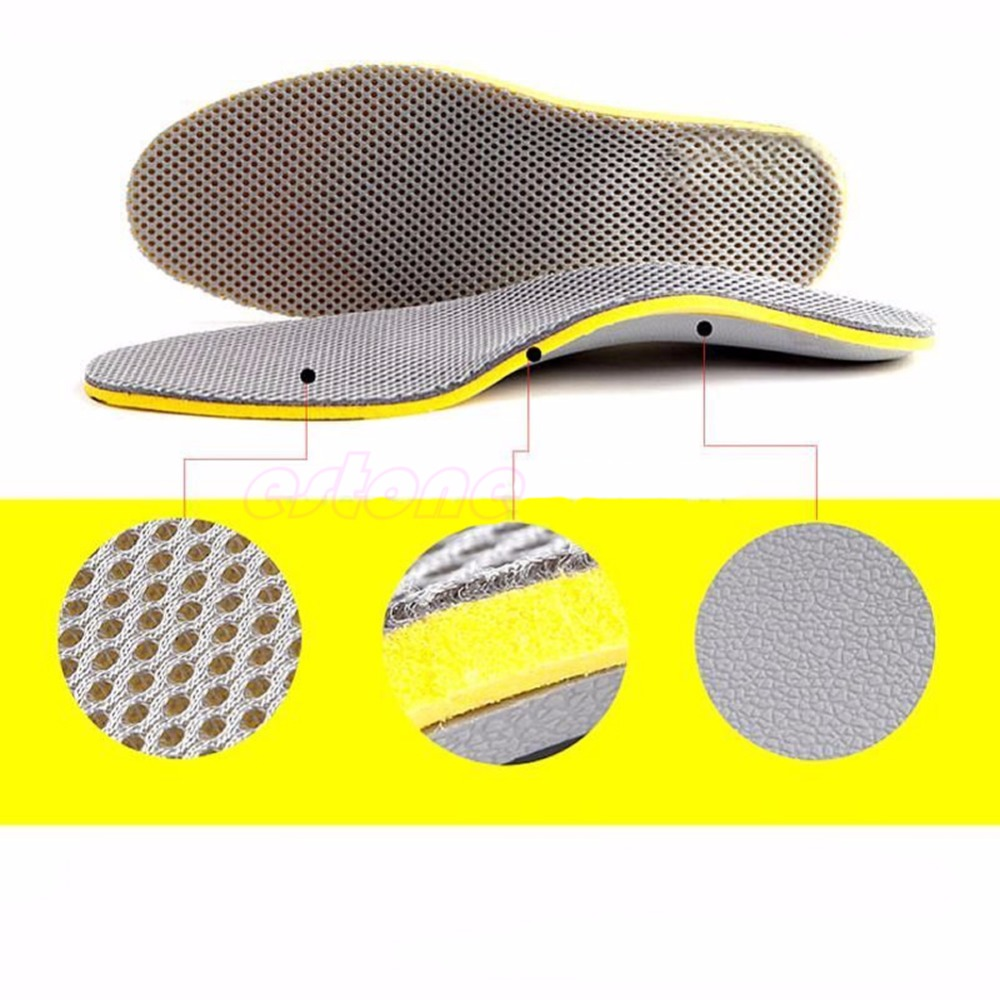 THINKTHENDO 7.5-12.5 Size Men Footful Arch Support Flat Insoles Shoes Pads With Cuttable YF