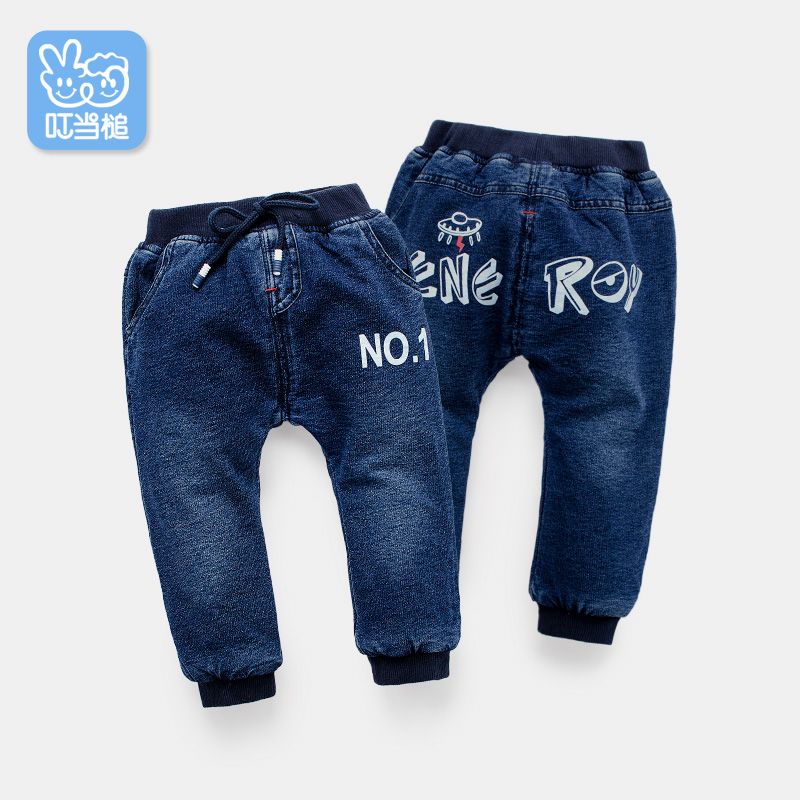 Dinstry children trousers winter plus cotton thickening boys jeans three layers of cotton baby high waist pants 2017 jeans for women new thin slim trousers pencil pants high waist small jeans plus size xl 5xl fashion vintage blue jeans