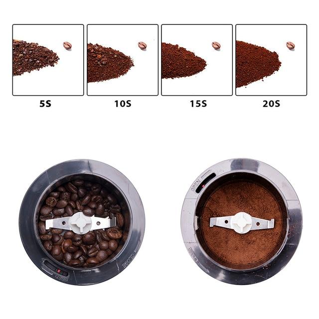 Mini máquina de café moedor elétrico grãos especiarias moinho ervas nozes moedor erva café moinho café elétrico 220v sonifer 4