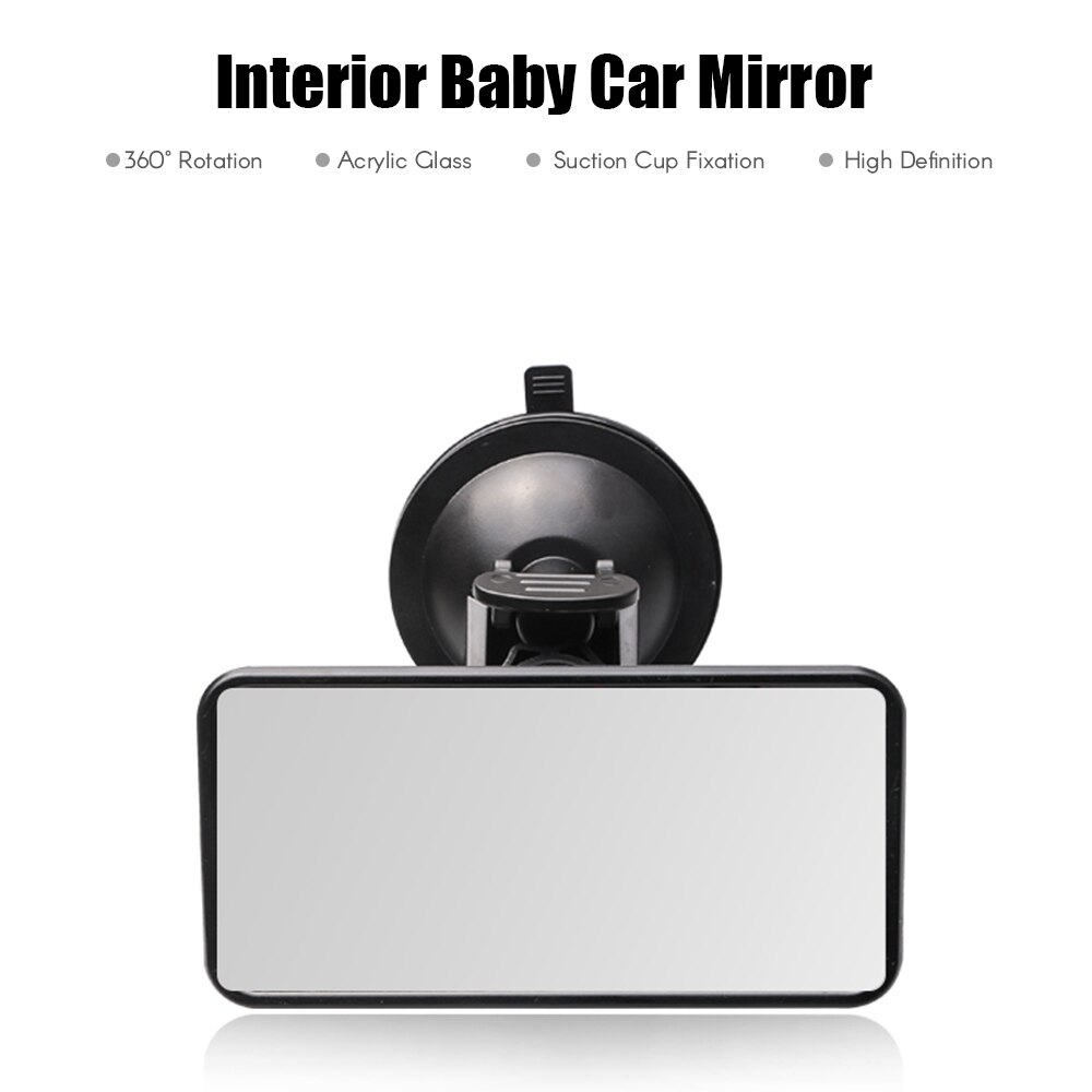 Infant Safety Rear View Suction Cup Mirror Driving Instructor Learner or Child