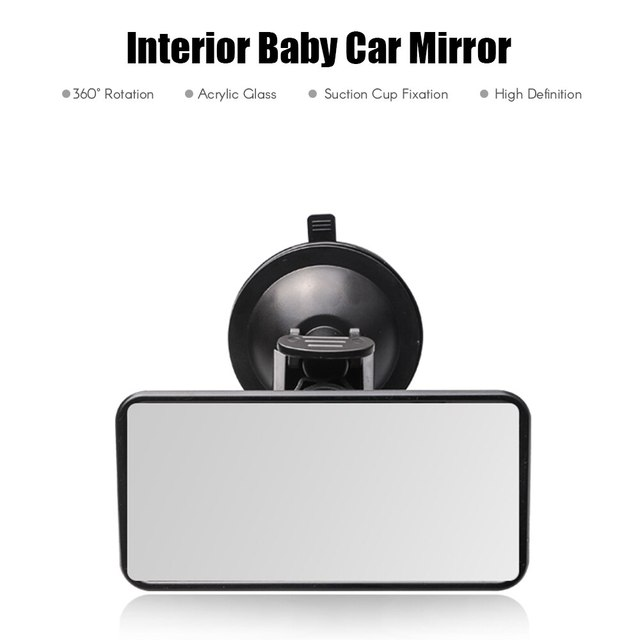 Car Interior Rear View Mirror Suction Cup Wide Angle Interior Rearview Mirror Large Vision Flat Mirror Car Accessories 1