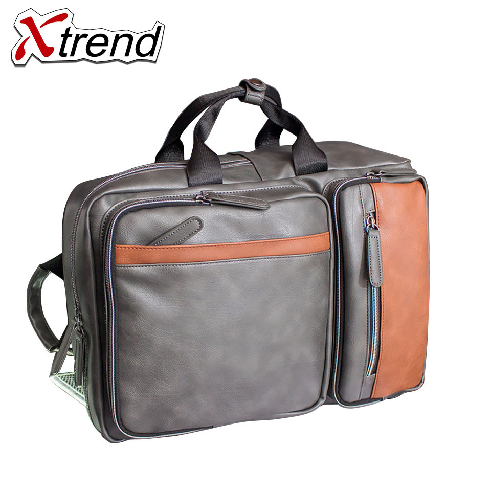 New 2018 Quality Waterproof Pu Leather Backpack Men 14 inch Laptop Bag Sac A Dos Men Backpacks Swiss Fashion Travel Backpack swisswin hot sale swiss 15 inch laptop bag case men women backpack wholesale price backpacks 2015 new brand cooler bag black