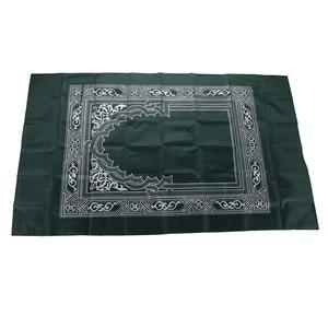 Image 5 - 5 צבעים 100x60cm אדום נייד תפילת שטיח כריעה פולי למוסלמי האיסלאם עמיד למים תפילת מחצלת שטיח
