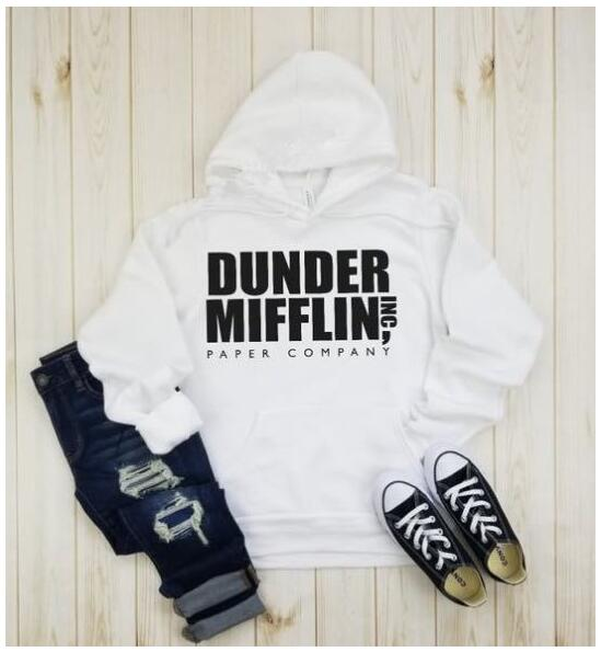 Hoodies & Sweatshirts Sunny 2018 Long Sleeve The Office Tv Show Dunder Mifflin Paper Hoodies Crew Neck Hoodies For Men