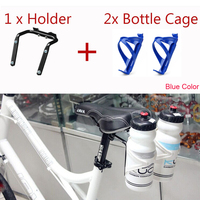 Metal Portabidon Doble Bicycle Cycling Holder Bracket For 2 Double Water Bottle Cages Holder With 2