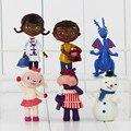 2016 Doc. Mcstuffins 6 unids/set Médico y Amigo Niñas & Dragon & Sheep & Hipopótamo 7-10 cm Acción figura Juguetes Brinquedos Regalo
