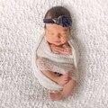 35*150 cm Stretch Knit Wrap Newborn Fotografía Atrezzo Bebé Niños Protuberancia Pequeña Rayón Wraps Bufanda Hamaca Envoltorios de Maternidad de Las Mujeres chal