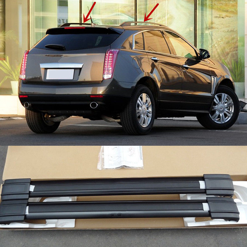 2PCS Black Roof Rack Car Roof Carrier luggage Holder For Cadillac SRX 2010 2011 2012 2013 ...