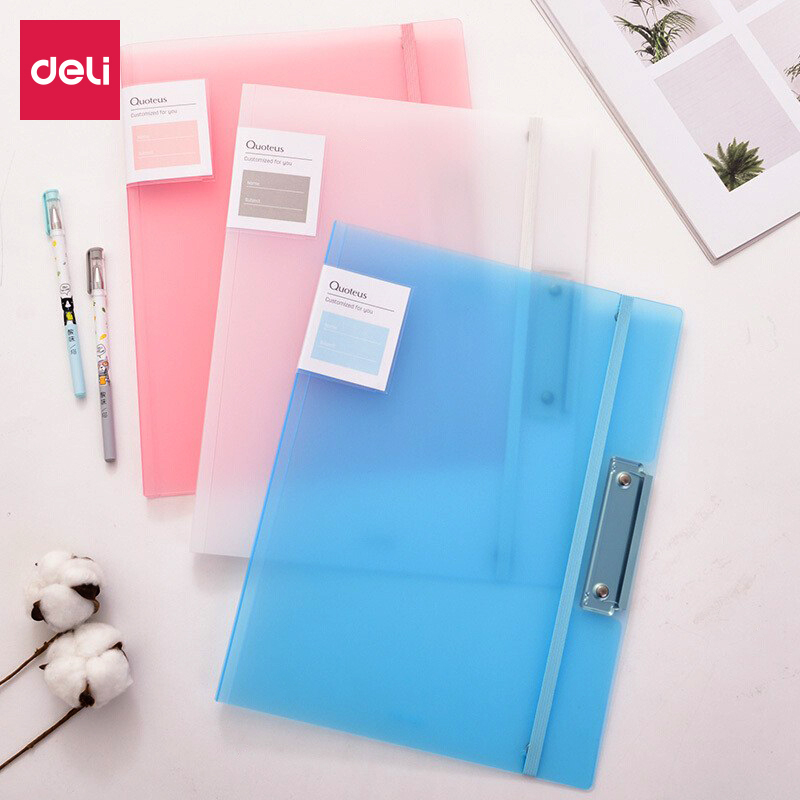Deli 1PCS Test Paper Filing Production Folder Student Multi-Function Storage A3/A4 Paper Report Document Contract File Folder