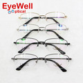 Half rim alloy memory titanium alloy optical frame with flexible arms for men high quality