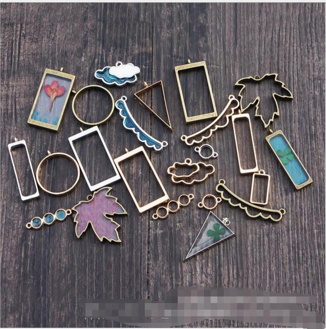 Lovely necklace pendant metal frame pendants for jewelry making diy lovely necklace pendant metal frame pendants for jewelry making diy time gemstone bottom necklace pendant square audiocablefo