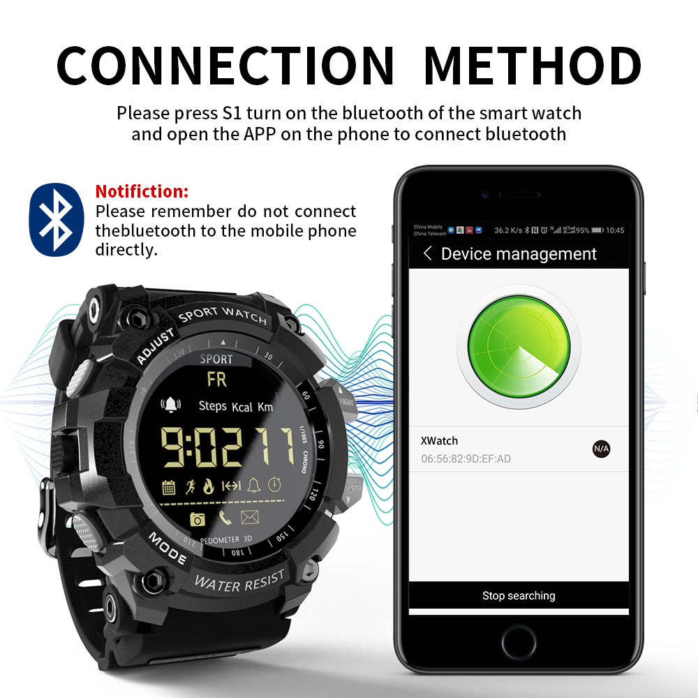 623f42246 LOKMAT Smart Watch bluetooth digital men clock Pedometer smartwatch  Waterproof IP67 Sport For ios Android Phone-in Smart Watches from Consumer  Electronics ...