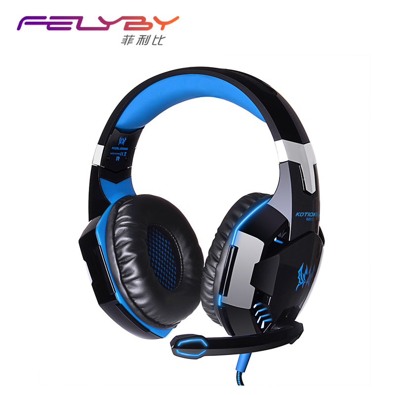 Hot G2000 Wired Gaming Headset Deep Bass Computer Gaming Headphones with microphone LED Light PC Noise Canceling Headphones g2000 subwoofer game headphone gaming stereo headset wired earphone deep bass with mic led light noise canceling for computer pc