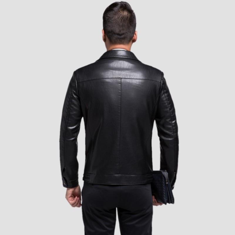 Nouvelle Mouton 1799 Hommes Vêtements Manteau Veste Peau De Noir Automne Mode En Cuir P6wq6d