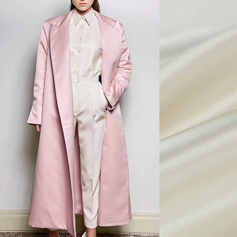 140CM Wide 36MM Solid Color Black White Pink Silk Wool Fabric for Autumn Spring and Winter Dress Coat Jacket Pants E961140CM Wide 36MM Solid Color Black White Pink Silk Wool Fabric for Autumn Spring and Winter Dress Coat Jacket Pants E961