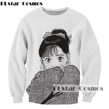 PLstar Cosmos Drop shipping 2017 Newest Harajuku Anime 3d Sweatshirt Men Women Hoodies Anime girl print fashion Tracksuits