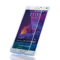 Ultra Thin For Samsung Galaxy Note 4 Case High Quality 100 Transparent Material Flip TPU Back