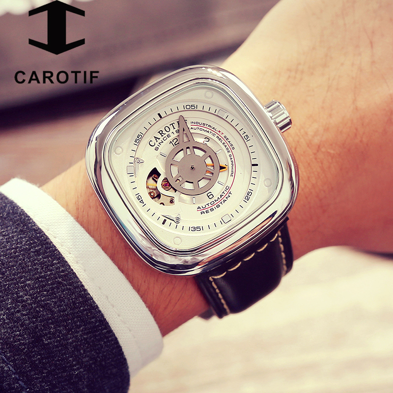 CAROTIF Sport Watches Men Luxury Top Brand New Fashion Men's Big Designer Automatic Mechanical Male Wristwatch relogio masculino(China)