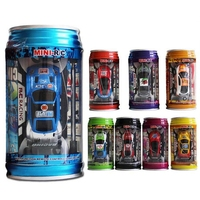 Original 7 Colors Coke Can Mini Speed RC Radio Remote Control Micro Racing Car Toy With