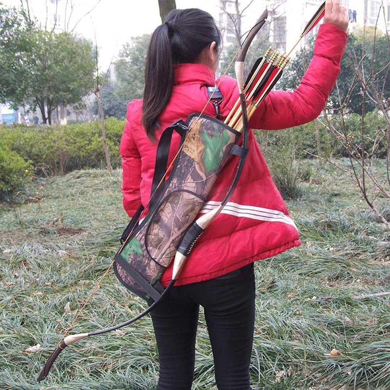 Back Arrow Bow Holder Bag Waist Pouch Zipper Pocket 22.8 X 6.7 Inch Buckle Accessories Target Hunting