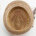Envío Gratis Las Nuevas Mujeres Hueco de Cáñamo Sombrero de la Playa Del Verano Sunhat Fedora del sombrero flexible Gángster Cap Paja de La Manera 1 unid