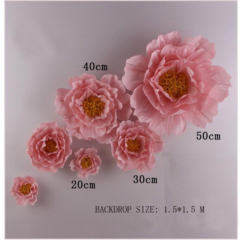 Riesen Simulation Karton Krepppapier Rose Blumen Schaufenster