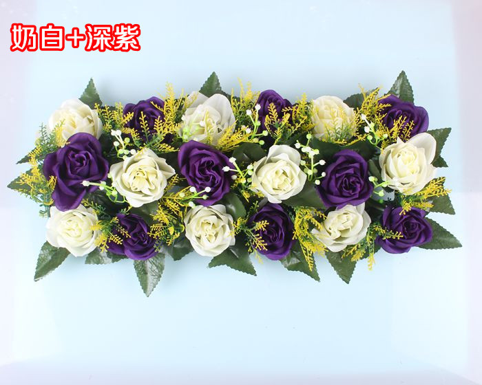 Свадебная композиция Свадебные Искусственные Свадебные шелковые розы арки цветочное свадебное украшение ряд цветов рамка с цветами 10 шт./партия - Цвет: FD05
