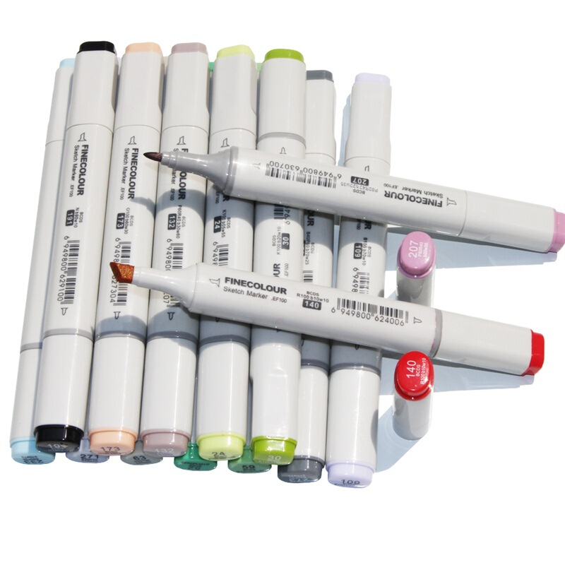 FINECOLOR 24 36 Color Large Capacity first generation Professional Dual Head Marker Sketch Set Watercolor Brush For Drawing