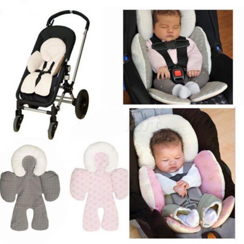Cotton Baby Safety Soft Pram Stroller Cushion Pad Car Seat Liners Pushchair Mat Winter Warm Cushion Floral
