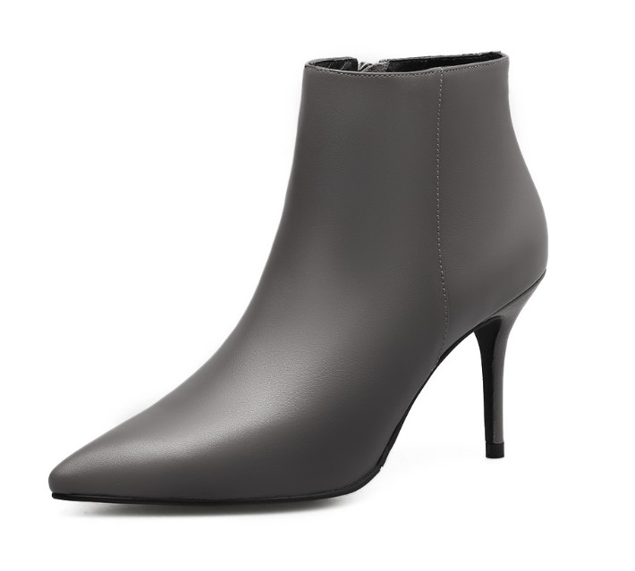 Black Ankle Boots Women High Heels Pointed Toe Sexy Snow Boots Woman Shoes Pure Color Winter Women Boots Black Ankle Boots Women High Heels Pointed Toe Sexy Snow Boots Woman Shoes Pure Color Winter Women Boots