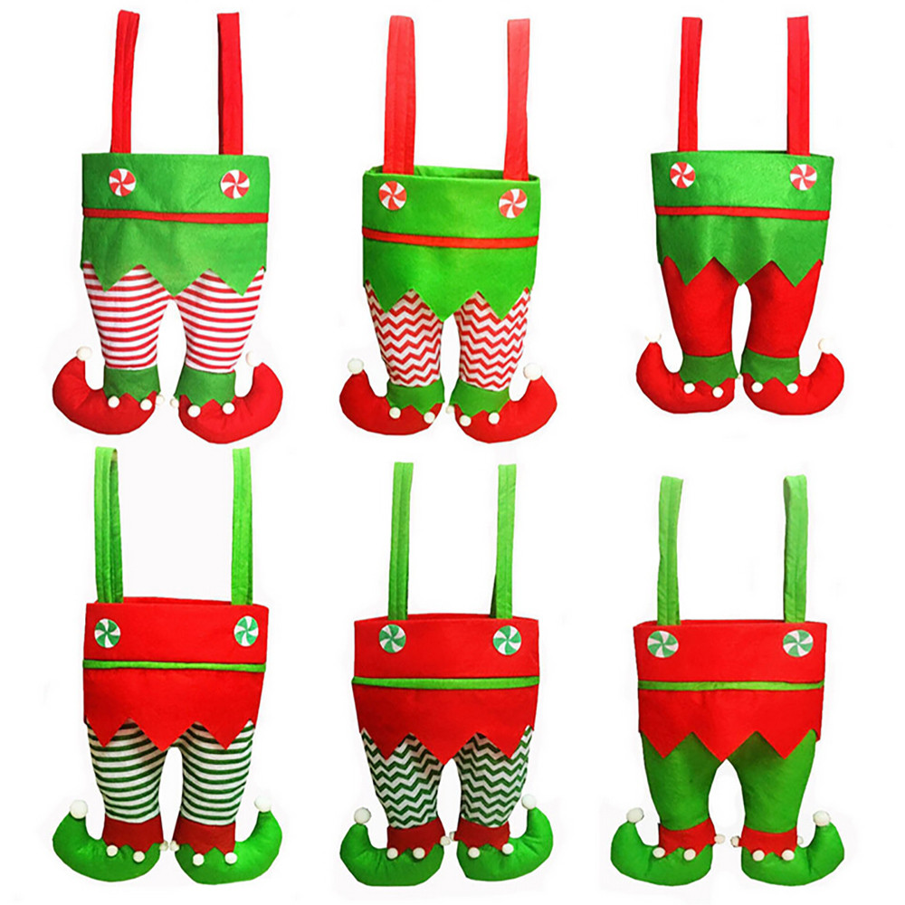 Novelty Funny Clown Pants Red Wine Bottle Cover Christmas Wine Bottle Decor Festival Gifts Holders Dinner Table Decoration