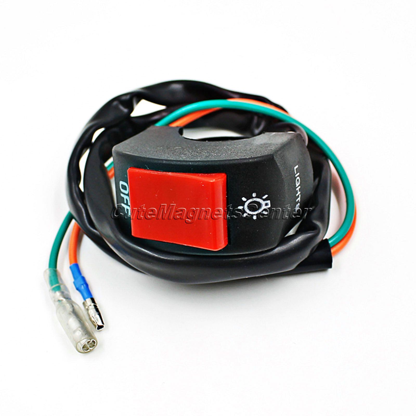 New 1pc Universal 12v Dc Motorcycle Handlebar Accident Hazard Light Wiring Brake Switch 7 8 Headlight On Off Button Bullet