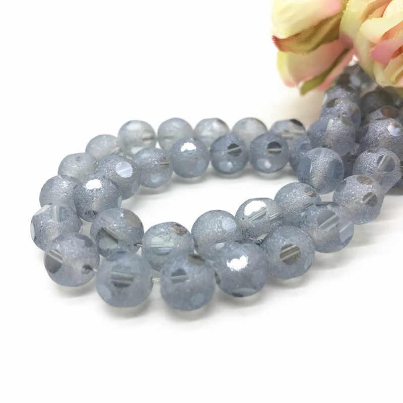 Frosted Mặt Áo pha lê hạt 20 cái 8 mét chất lượng Cao glass beads Loose bóng handmade Đồ Trang Sức vòng đeo tay làm DIY #10