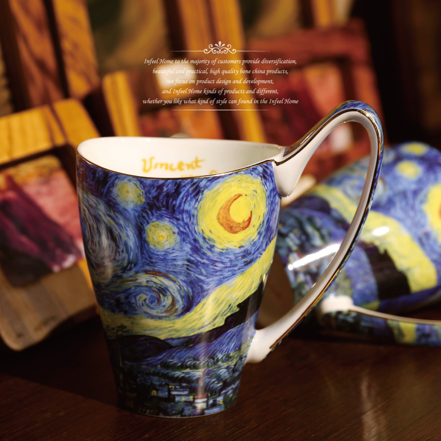 Creative gifts van gogh oil painting lovers mug large for Ceramic mural artists