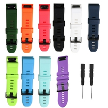 20 22 26mm Quick release Silicone Wrist Band Strap With Buckle for Garmin Fenix5 5X 5S Multisport GPS Fitness Watch bands belt