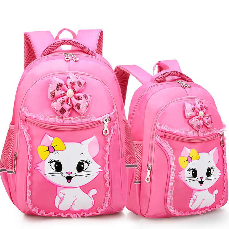 Mochilas escolares impermeables para niños, mochilas escolares para niñas y gatos, mochilas para la escuela primaria, mochila para niños