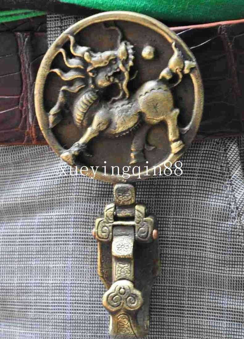 Crafts statue Chinese Refinement Old Copper Kirin Belt Hooks Exorcisms StatueCrafts statue Chinese Refinement Old Copper Kirin Belt Hooks Exorcisms Statue