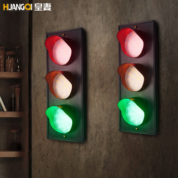 Huang's wife Retro Red Light Wall Restaurant Bar Cafe corridors personality color iron wall lamp
