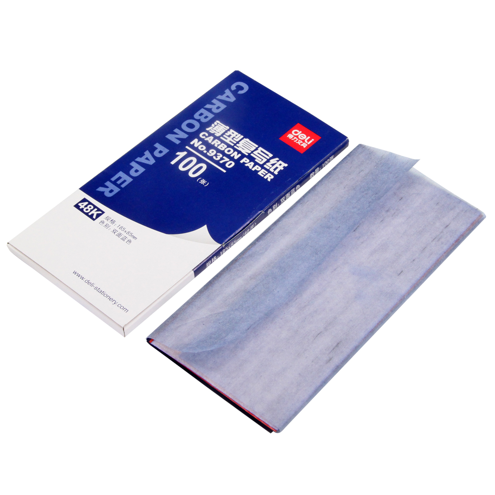 1 Pack Thin-Type Long-Shelf-Life Double-Side Blue Carbon Paper for School & Office & Writting