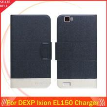 """5 цветов горячей! DEXP Ixion EL150 Зарядное устройство чехол """" Ультра-тонкий модный кожаный эксклюзивный чехол для телефона с откидной крышкой с отделением для карт"""