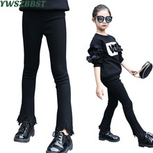 Fashion Baby Kids Girls Flare Pants Cotton Bell Bottom Jeans Wide Leg Trousers Casual Daily Children Girl Pant Clothing