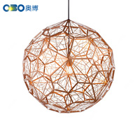 Modern Tom Dixon Etch Web Pendant Lights Art Diamond Ball Stainless Steel Dining Room Bedroom Desktop Hanging Lamps Fixture