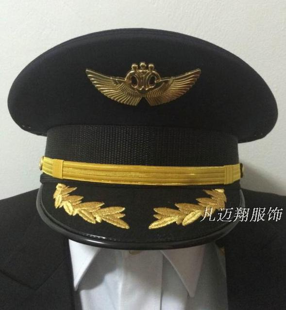 a913f0c62b2 China Southern Airlines pilot captain hat aviation big top cap aviation  apparel wholesale custom