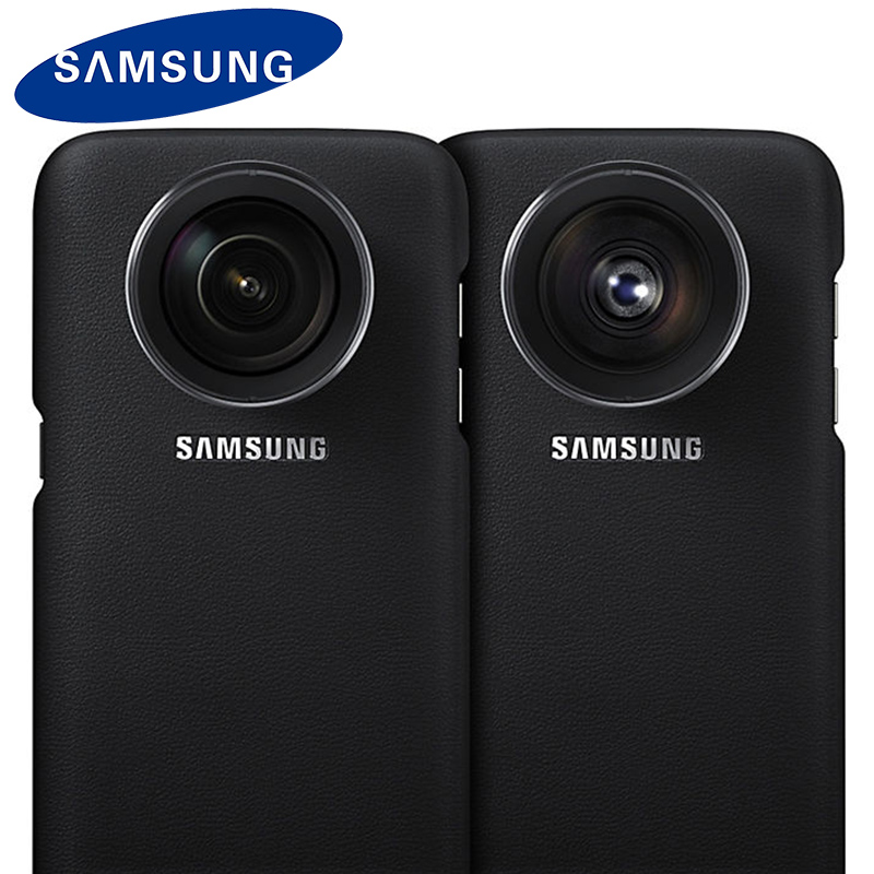 newest 8c143 cb8ed US $42.8  Samsung Original Case For Samsung Galaxy S7 Edge Lens Cover G935  ET CG935 Vision Wide angle Lens Phone Shell-in Flip Cases from Cellphones &  ...