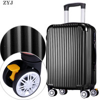 ZYJ Men Women Travel Trolley Luggages Alloy Business Rolling Airplane Suitcase Luggage Spinner Wheels 20 24 28 Inch