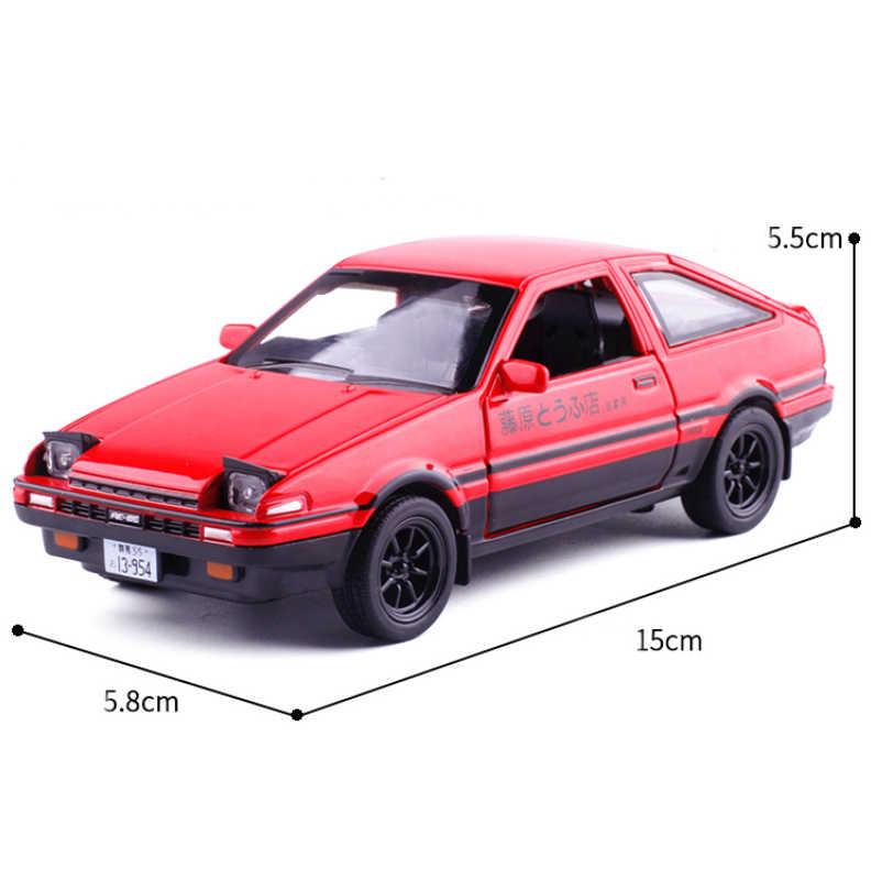 Новый Начальная D Toyota AE86 1:28 сплава модели автомобиля с рисунком аниме Форсаж с отступить Звук Свет для мальчика игрушки Бесплатная доставка